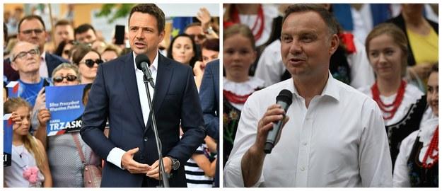 Rafał Trzaskowski i Andrzej Duda /Maciej Kulczyński/Łukasz Gągulski /PAP
