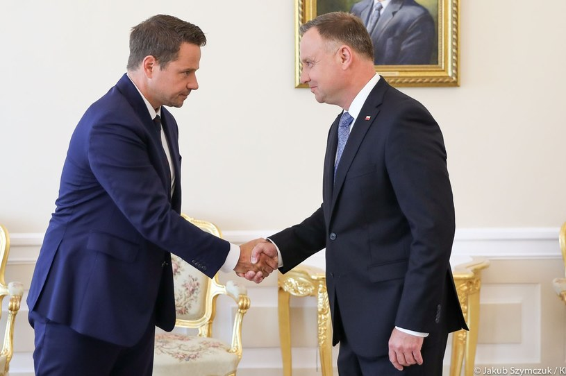 Rafał Trzaskowski i Andrzej Duda /Jakub Szymczuk /East News