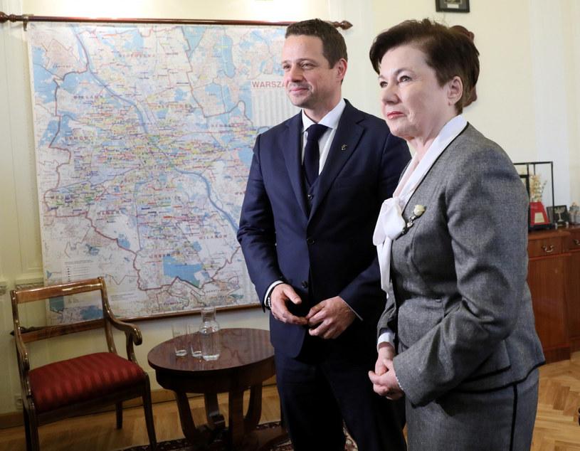Rafał Trzaskowski i Hanna Gronkiewicz-Waltz /Piotr Molecki /East News