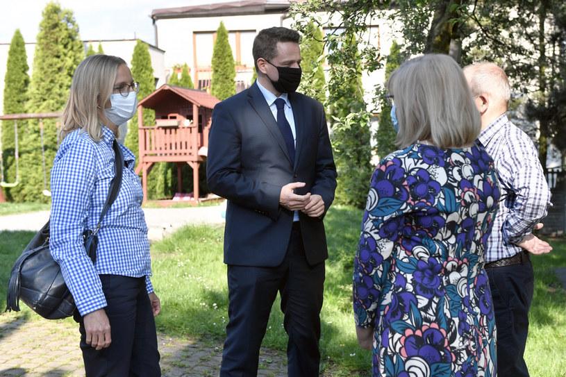 Rafał Trzaskowski i jego żona Małgorzata Trzaskowska /Łukasz Kalinowski /East News