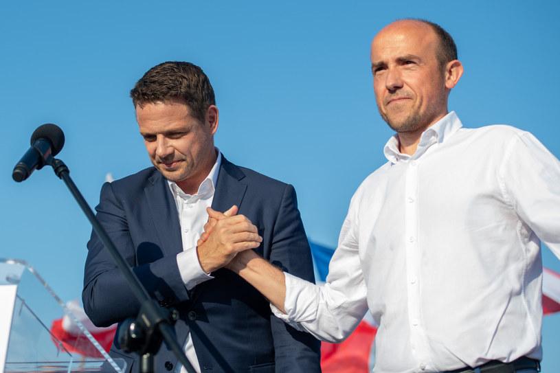 Rafał Trzaskowski i lider PO Borys Budka /Piotr Hukalo /East News