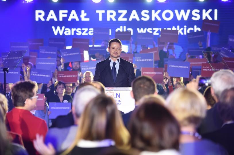 Rafał Trzaskowski na konwencji wyborczej Koalicji Obywatelskiej /Zbyszek Kaczmarek /Reporter