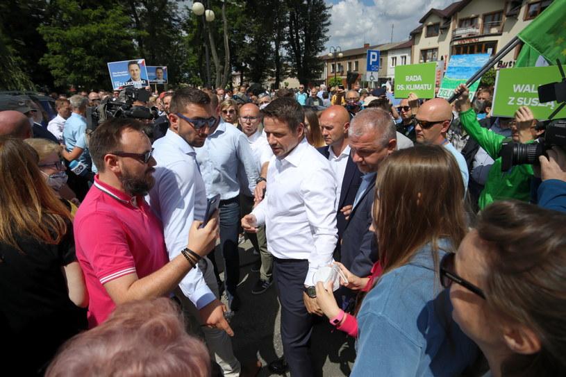 Rafał Trzaskowski na trasie kampanii wyborczej. /Szymon Łabiński /PAP