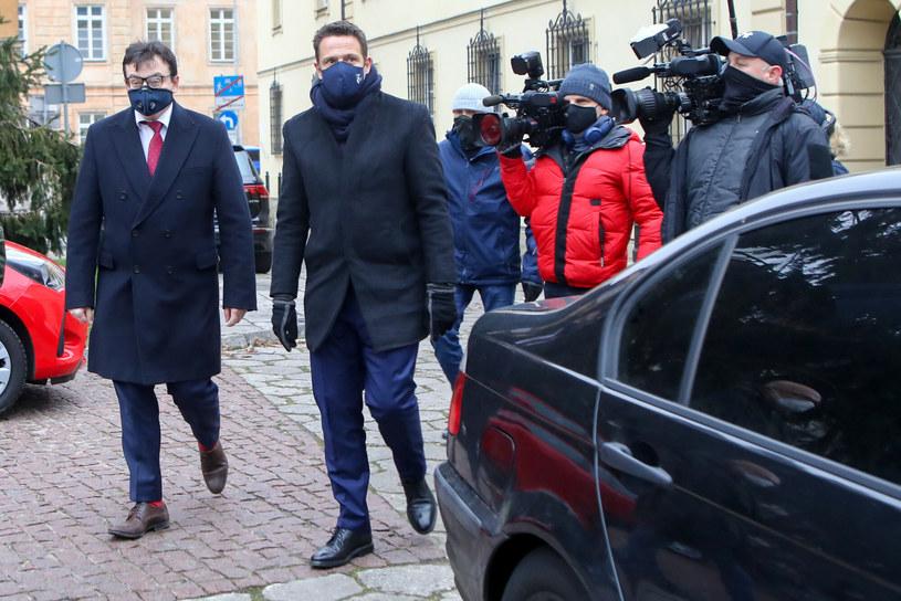 Rafał Trzaskowski po wizycie na komendzie /Tomasz Jastrzebowski/REPORTER /Reporter