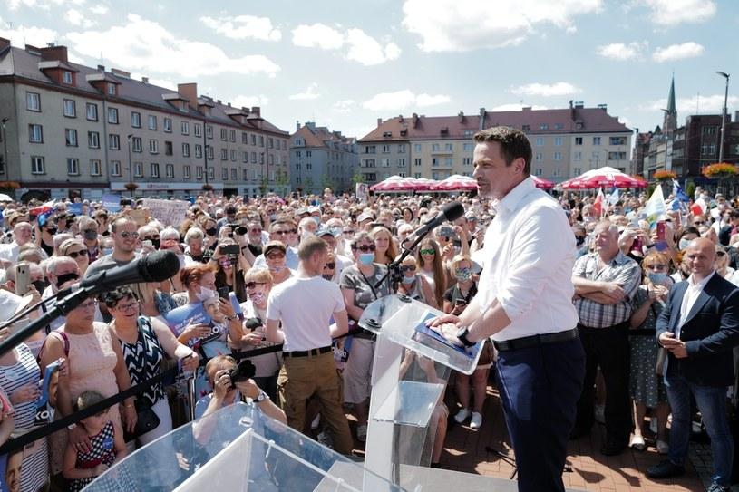 Rafał Trzaskowski w Bytomiu / Andrzej Grygiel    /PAP