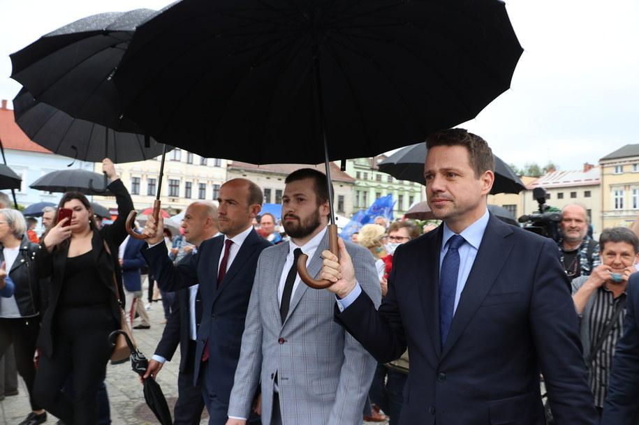 Rafał Trzaskowski w Oświęcimiu /Józef Polewka /RMF FM