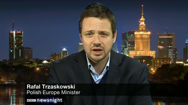 Rafał Trzaskowski w programie BBC /