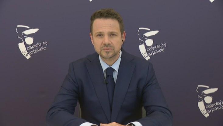"""Rafał Trzaskowski w programie """"Gość Wydarzeń"""" /Polsat News"""
