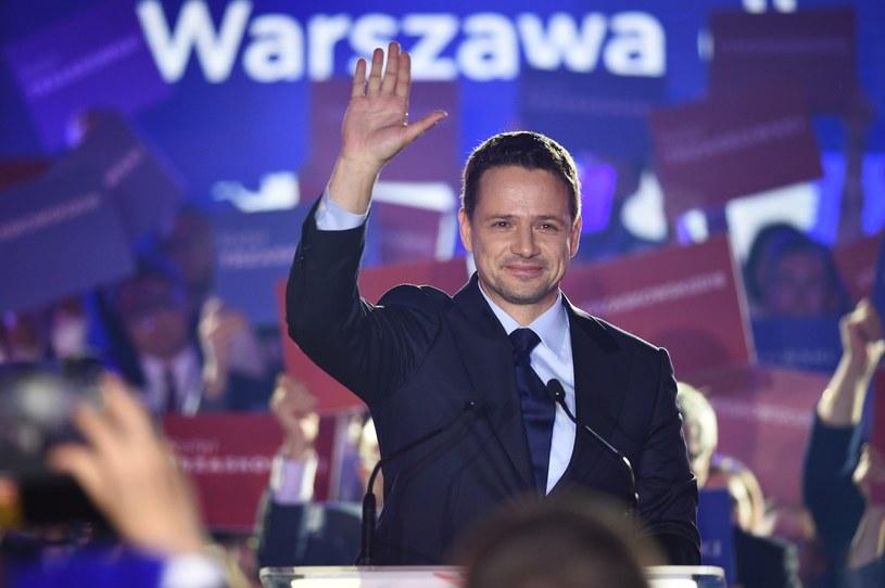 Rafał Trzaskowski w trakcie konwencji KKW Koalicji Obywatelskiej Platforma i Nowoczesna /Zbyszek Kaczmarek /Reporter