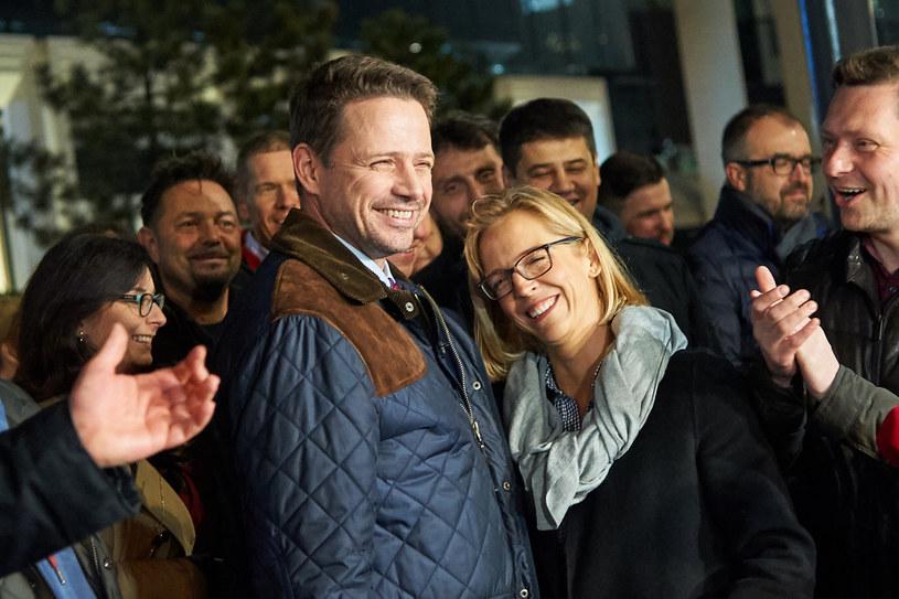 Rafał Trzaskowski z żoną Małgorzatą; fot. 2018 r. /Łukasz Szeląg /Reporter
