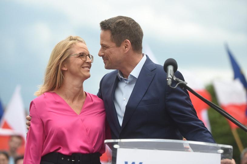 Rafał Trzaskowski z żoną Małgorzatą /Jacek Dominski/REPORTER /Reporter