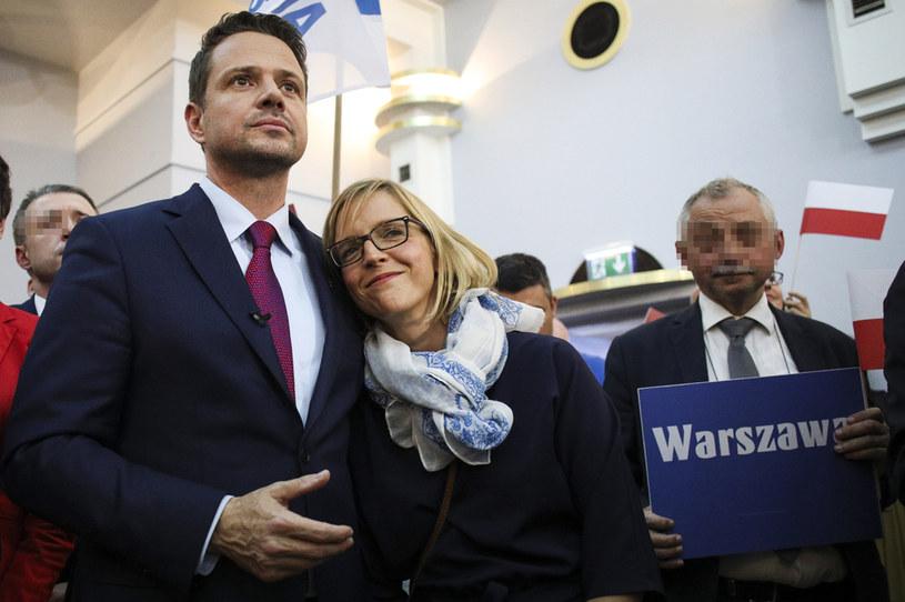 Rafał Trzaskowski z żoną /Andrzej Hulimka