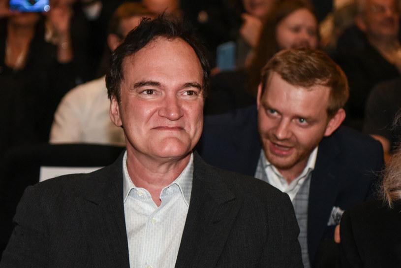 Rafał Zawierucha i Quentin Tarantino na festiwalu Camerimage w Toruniu /Justyna Rojek /East News