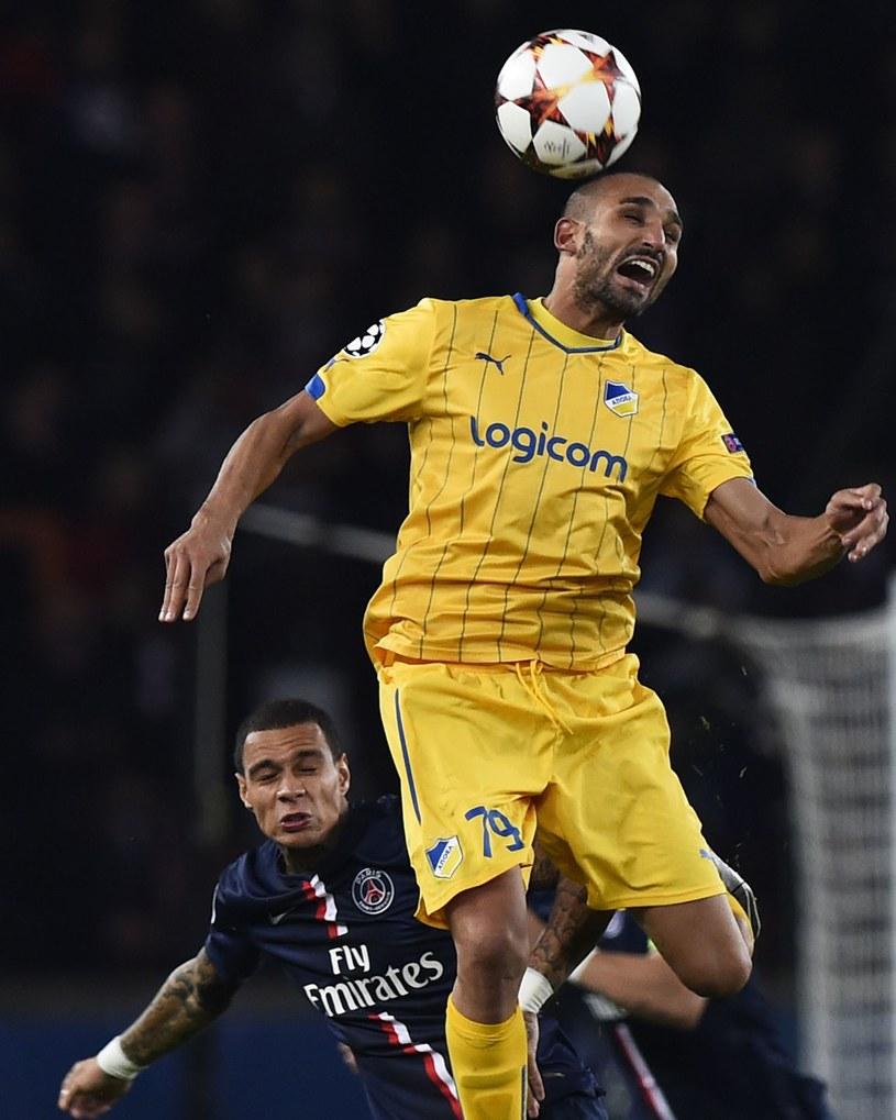Rafik Djebbour, piłkarz APOEL-u Nikozja /AFP