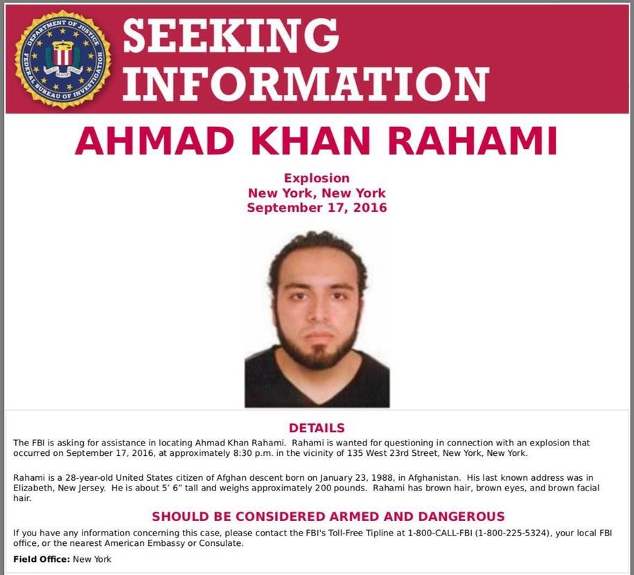 Rahamiego poszukuje również FBI /FBI /PAP/EPA