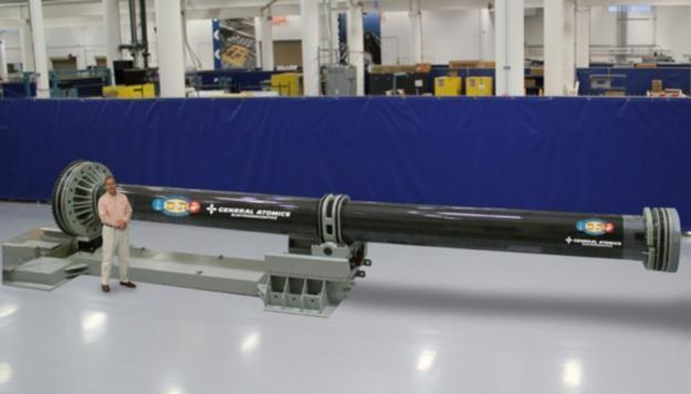 Railgun w trakcie budowy.   Fot. General Atomics /materiały prasowe