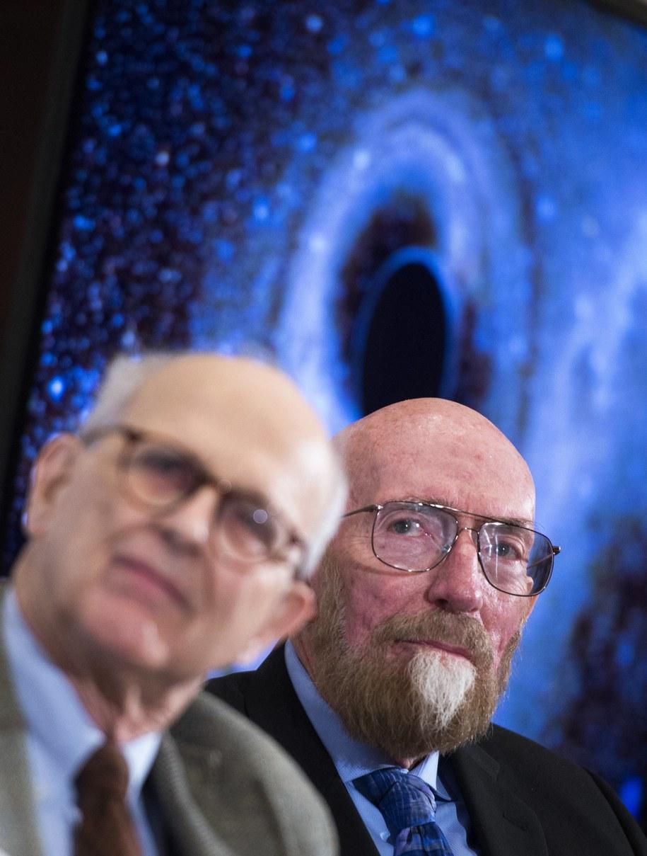 Rainer Weiss i Kip Thorne /SHAWN THEW    /PAP/EPA