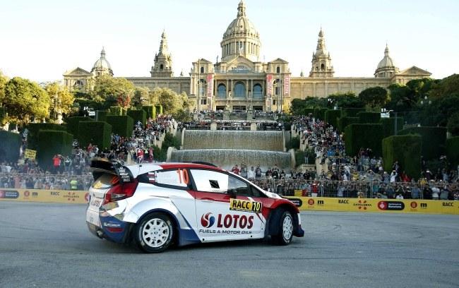 Rajd Hiszpanii to przedostatnie eliminacje samochodowych mistrzostw świata /ANDREU DALMAU /PAP/EPA
