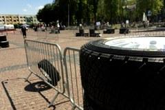 Rajd Polski: Strefa zmiany opon i dotankowania w Gołdapi