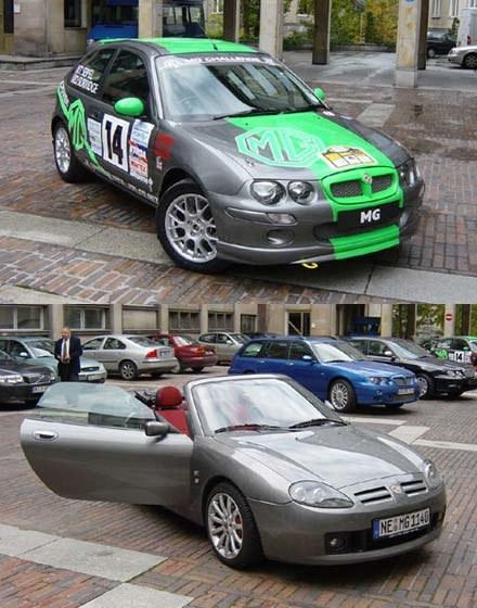 Rajdowy MG ZR oraz MG TF (kliknij) /fot. Witold Blady