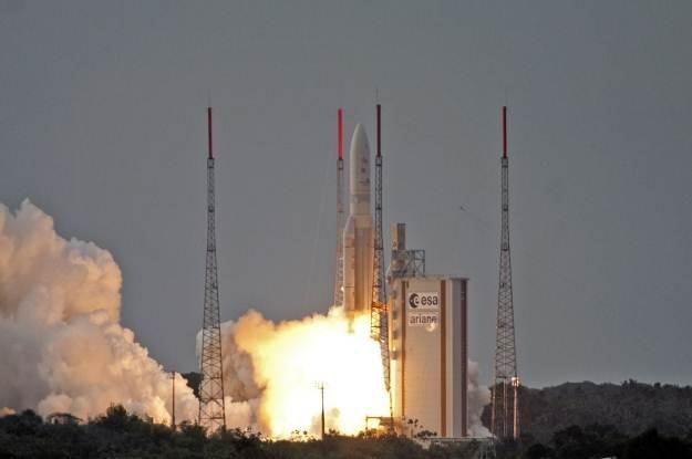 Rakieta Ariane 5 startuje z Gujany Francuskiej /AFP