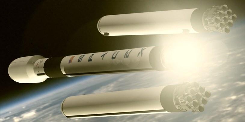 Rakieta Falcon Heavy – odrzucenie rakiet bocznych /materiały prasowe