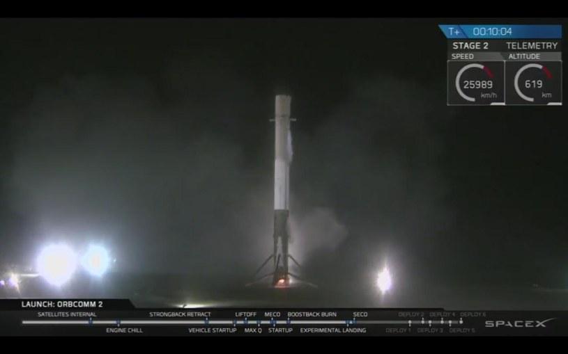 Rakieta nośna Falcon 9 odbyła udany lot /YouTube