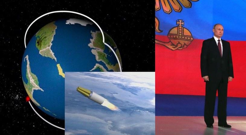 """Rakieta RS-28 Sarmat ma mieć ogromny zasięg. A nowy pocisk manewrujący - rzekomo """"nieograniczony"""" zasięg. Fot. AFP/materiały prasowe /AFP"""