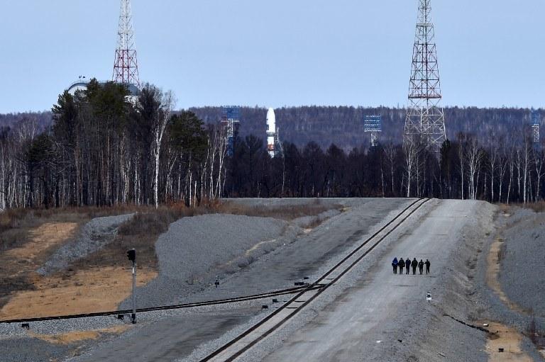 Rakieta Sojuz 2.1a gotowa do startu. Do startu jednak nie doszło /KIRILL KUDRYAVTSEV / POOL / AFP  /AFP