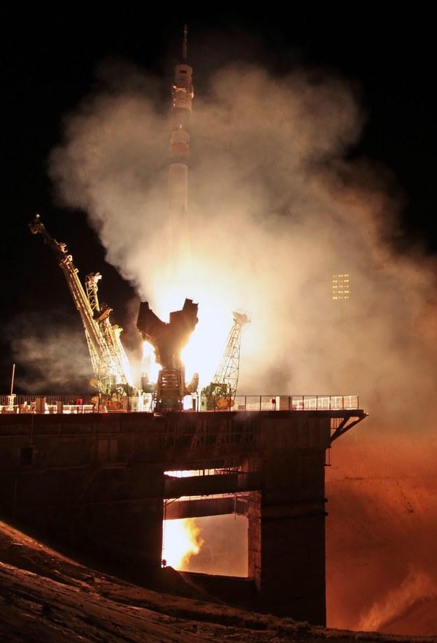 Rakieta Sojuz TMA-09M wystartowała z kosmodromu Bajkonur w Kazachstanie /MAXIM SHIPENKOV    /PAP/EPA