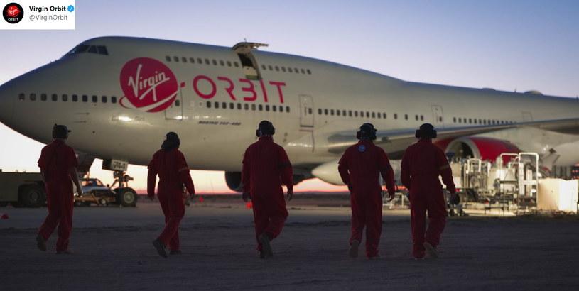 Rakieta została wyniesiona przez specjalnie przystosowanego Boeinga 747-400 /Twitter