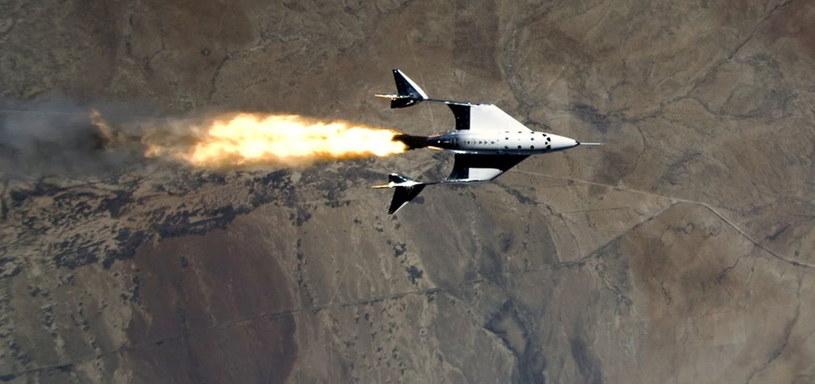 Rakietoplan SpaceShipTwo VSS Unity /materiały prasowe
