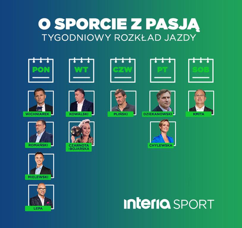 Ramówka Sport Interia /interia /materiały prasowe