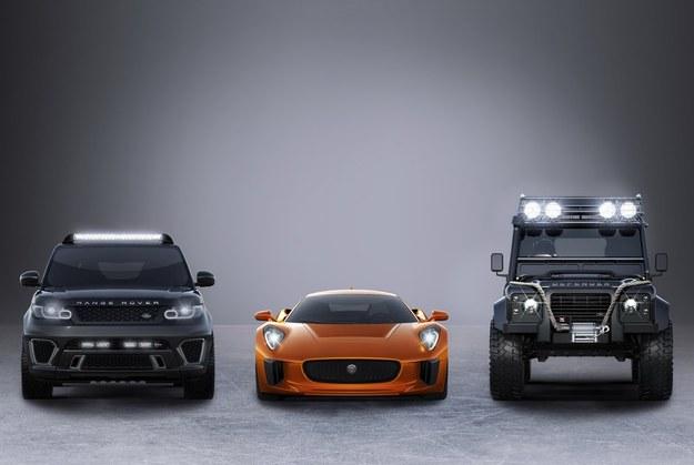 Range Rover Sport SVR, Jaguar C-X75 i Land Rover Defender /