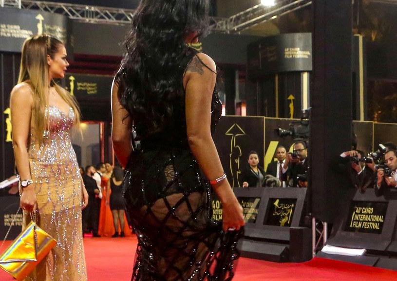 Rania Youssef na festiwalu filmowym /PATRICK BAZ/AFP /East News