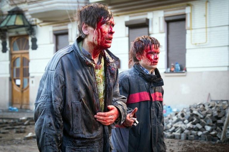 Ranni w Kijowie /AFP