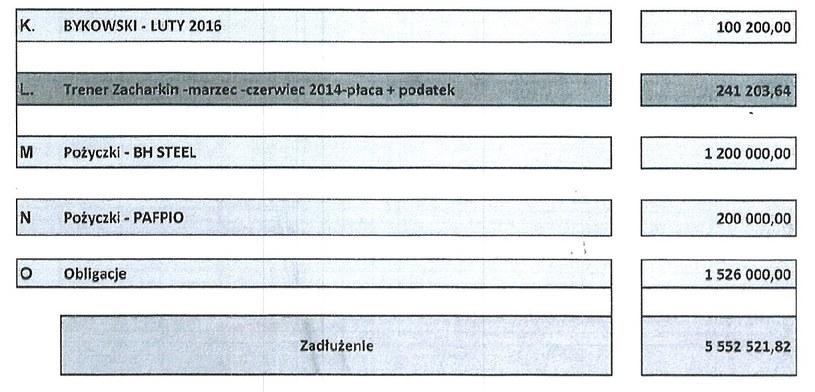Raport długów w PZHL - c.d.. /INTERIA.PL