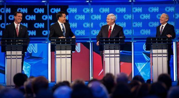 Rapublikańscy kandydaci na prezydenta w debacie telewizyjnej /AFP