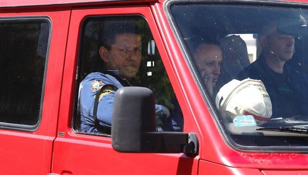 Ratownicy wyjeżdżają po akcji ratowniczej w kopalni / Andrzej Grygiel /PAP