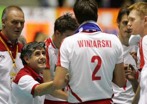 Raul Lozano jako trener reprezentacji Polski /AFP