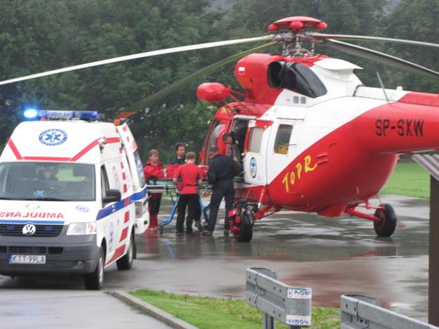 Rażonych piorunem przetransportowano do szpitala w Zakopanem  /Maciej Pałahicki /RMF FM