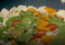 Razowy makaron z pesto z liści rzodkiewki