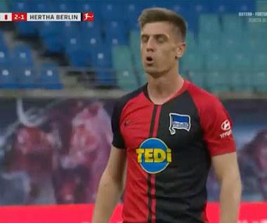 RB Lipsk - Hertha 2-2 - skrót. Gol Krzysztofa Piątka (ZDJĘCIA ELEVEN SPORTS). WIDEO