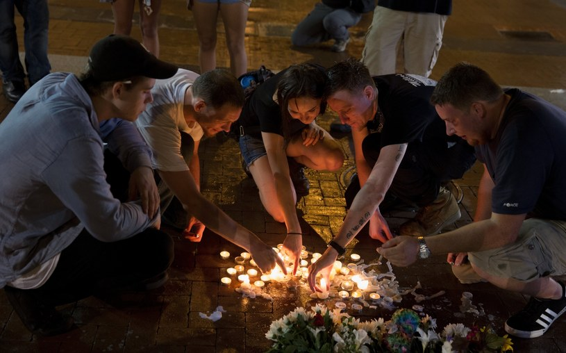 Reakcja na wydarzenia w Charlottesville /Tasos Katopodis  /PAP/EPA