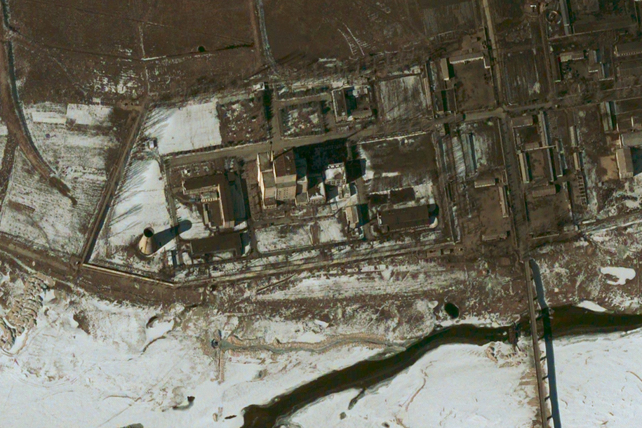 Reaktor jądrowy w Jongbjon. Zdjęcie satelitarne /DIGITALGLOBE/AFPI /PAP/EPA