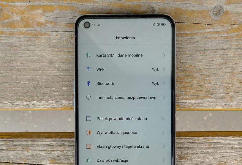 Realme UI - menu Ustawienia /INTERIA.PL