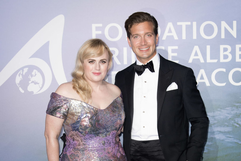 Rebel Wilson i Jacob Busch podczas gali w Monte Carlo /SC Pool - Corbis / Contributor /Getty Images