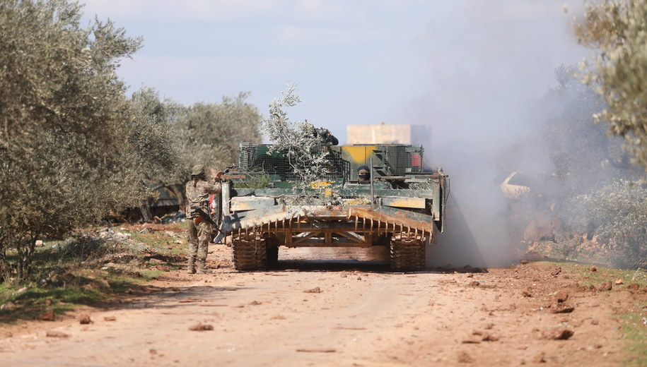 Rebelianci z Narodowej Armii Syryjskiej wspieranej przez Turcję /YAHYA NEMAH /PAP/EPA