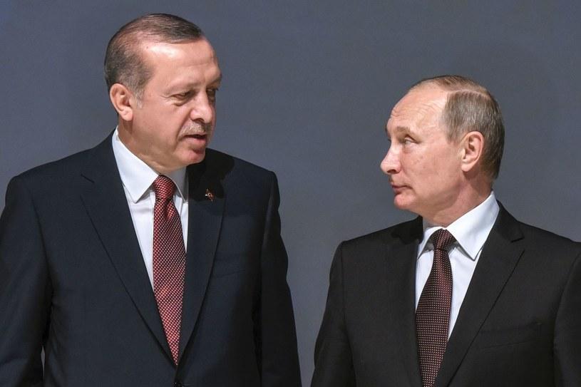 Recep Erdogan i Władimir Putin /AFP