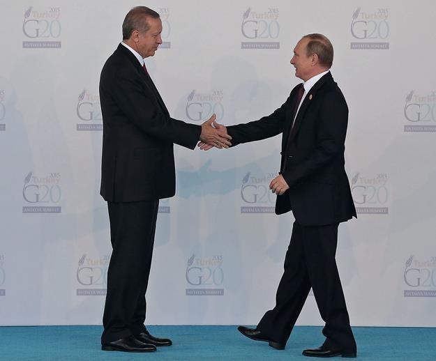 Recep T. Erdogan (L) i Władimir Putin. Fot. Chris McGrath /Getty Images/Flash Press Media